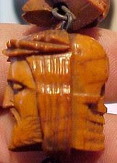 Wooden skull bead