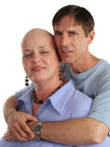 Photo of a cancer survivor and her husband