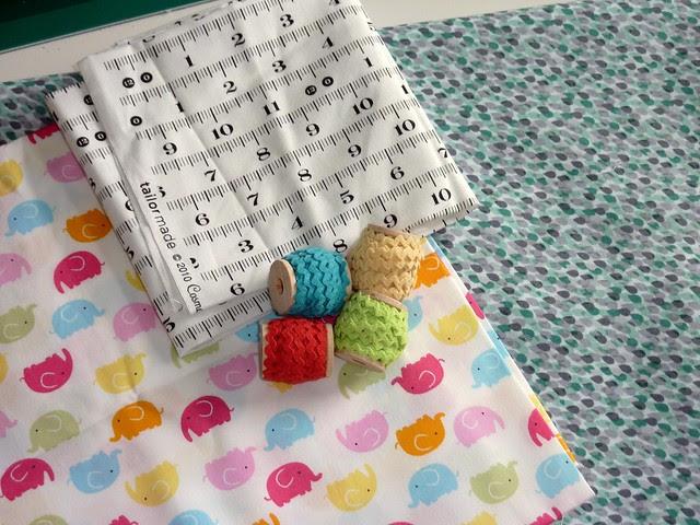 Cotton Fabric & Ric-Rac