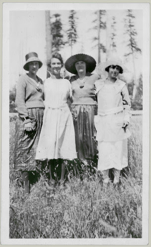 Four women, three hats