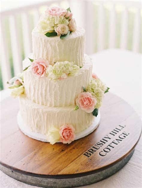 Top 15 Real Flower Rustic Wedding Cake Designs ? Unique