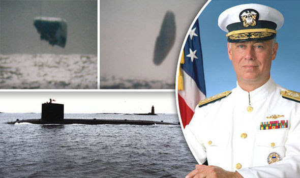 One of the huge looking bizarre UFOs allegedly snapped from submarine