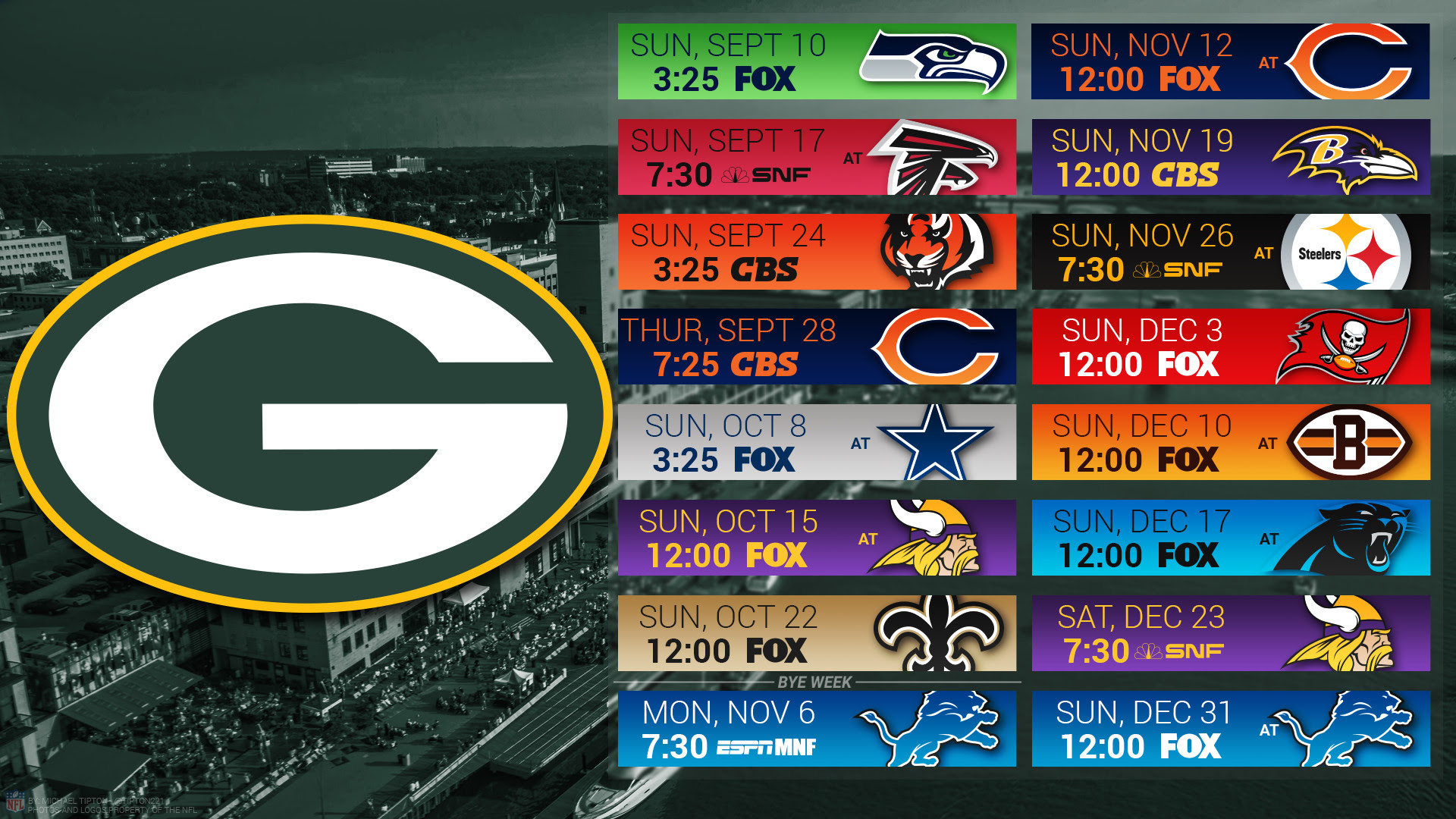 Green Bay Packers Schedule Wallpaper 69 Images