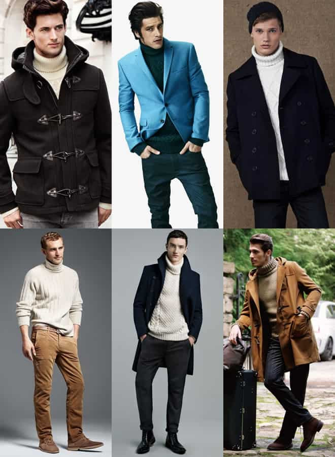 Men's Chunky Rollneck Lookbook