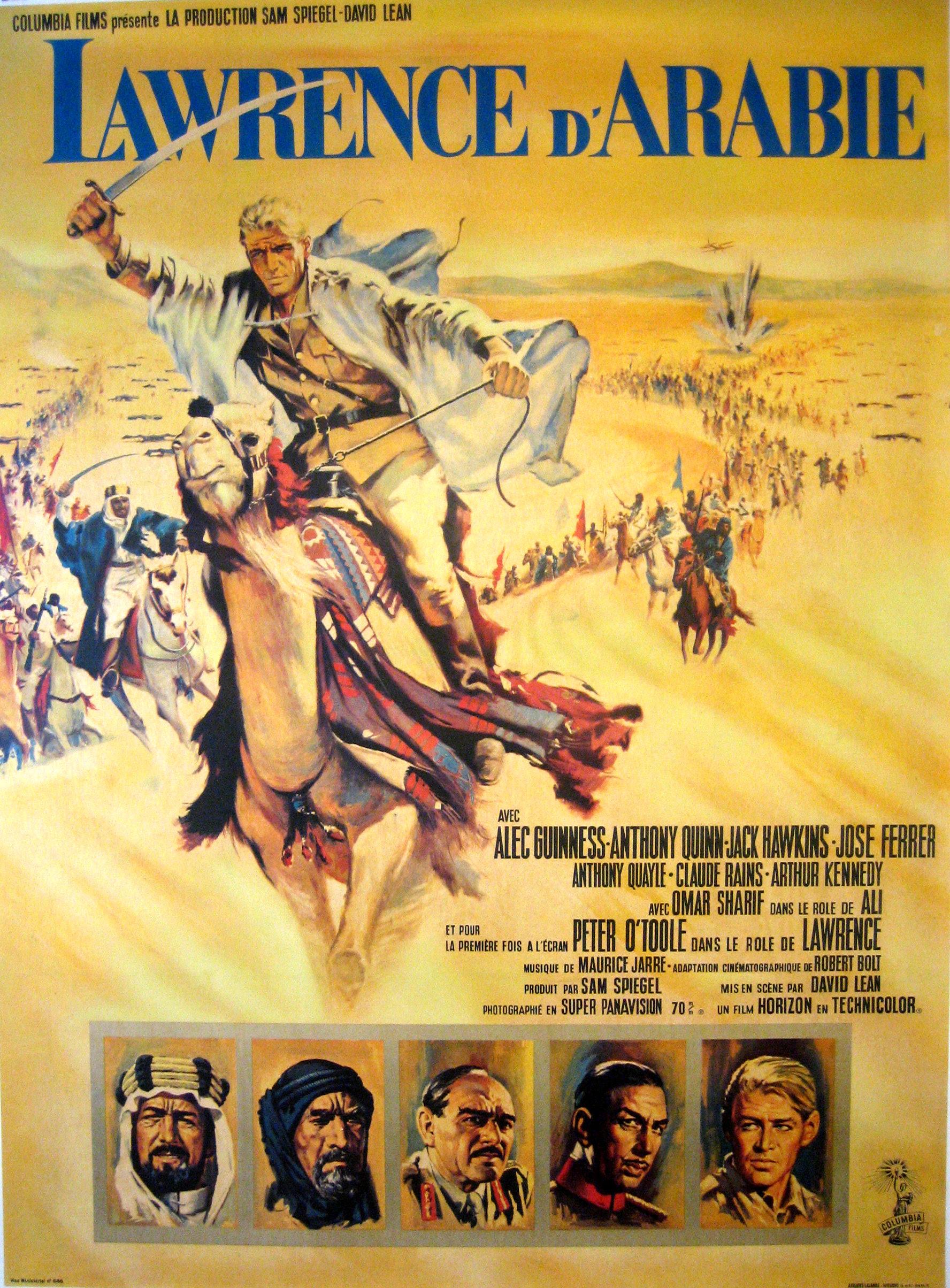 La Gran Guerra, un siglo despues: bibliografía y filmografía recomendadas: Cartel de Lawrence de Arabia