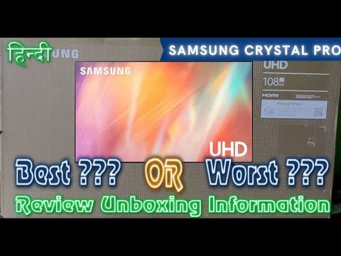 Samsung Crystal 4K Pro TV Unboxing, Review, Settings ⚡ 4K Crystal Processor, 1 Billion Colors & lots