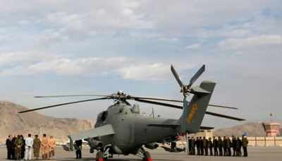 A helicopter donated by India is parked at the airport in Kabul (Reuters file photo)