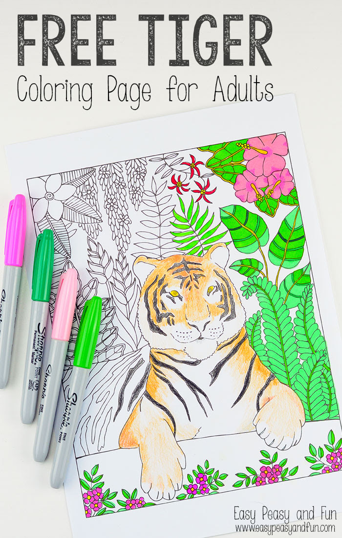 Free-Printable-Tiger-Coloring-Page-for-Adults - Red Ted ...
