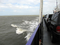 a view from the Cedar Island Ferry