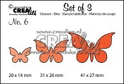 Set of 3 Butterflies no. 2 stansen / Set of 3 Butterflies no. 2 dies