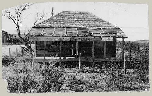 Judge Roy Bean's bar and courtroom