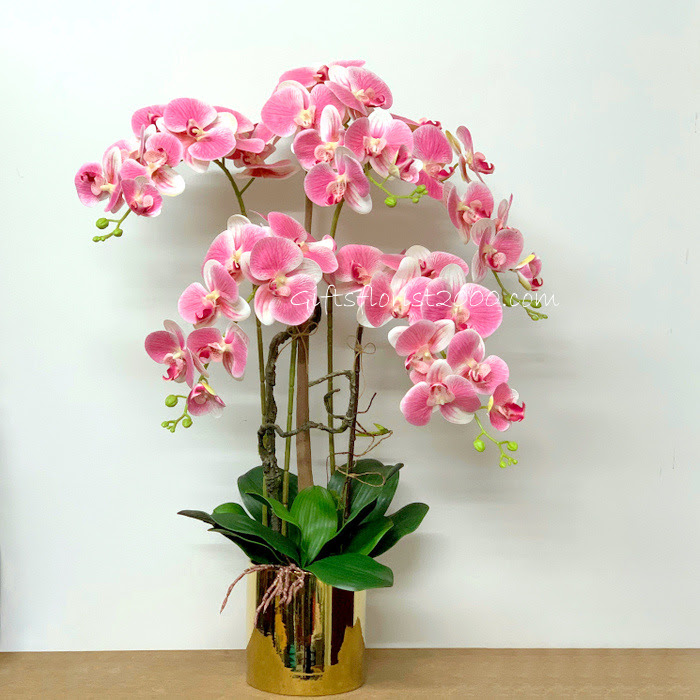 Phalaenopsis White Silk Flowers Artificial Orchid Flower
