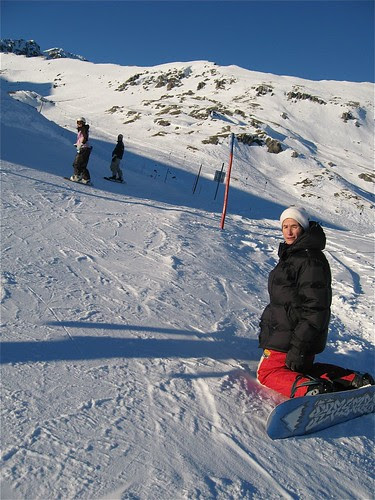 1st Snowboarding in CH