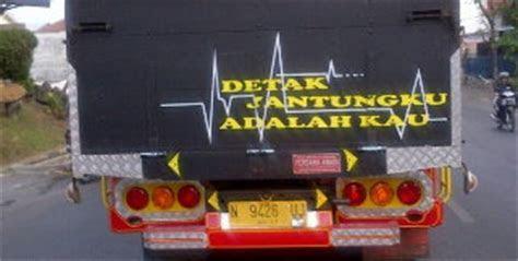 tulisan lucu  seni grafik  belakang truk truk