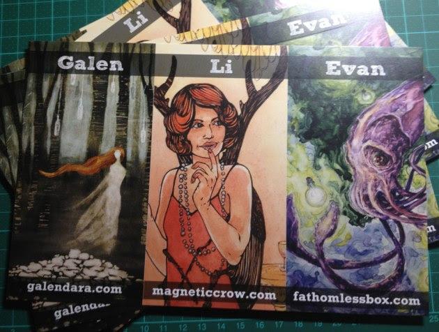 Spectrum Fantastic Art booth cards!