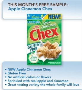 Pillsbury Chex cereal 276x300 Pillsbury Members Get a Free Apple Cinnamon Chex Sample (First 10,000)!