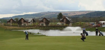 Megan Briggs at he 18th at the Carrick Loch Lomond