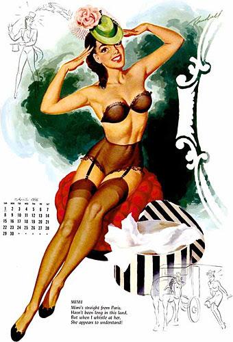 Bill Randall pin-up calendar girl