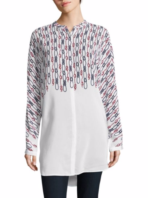 Equipment Elsie Printed Silk Tunic