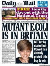 Daily Mail (UK) Front Page for 3 June 2011 | Paperboy Online ...