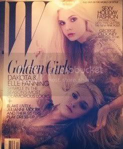 Elle and Dakota Fanning Cover W December Issue