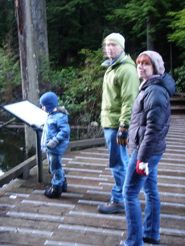 hiking companions around the swamp