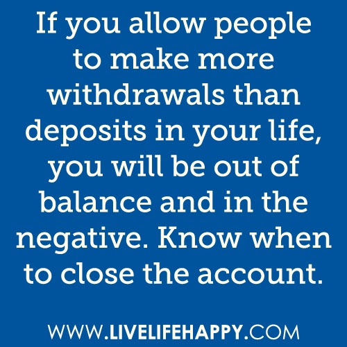 If You Allow People To Make More Withdrawals Then Deposits In Your