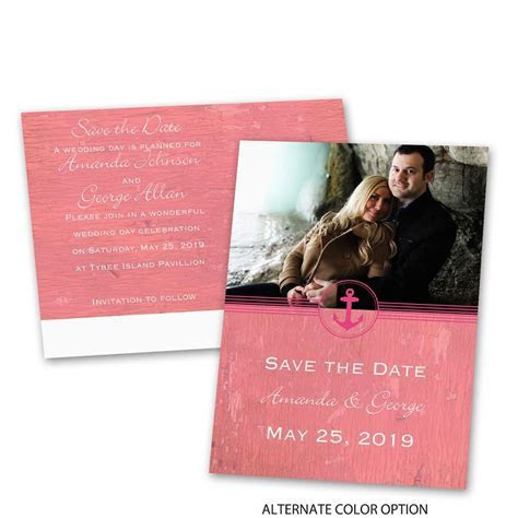 Anchored by Love Save the Date Postcard   Ann's Bridal