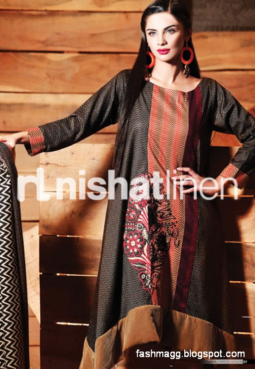 Nishat-Linen-Winter-Dresses-Collection-2013-Nishat-Linen-Fancy-Frocks-Shalwar-Kamiz-2