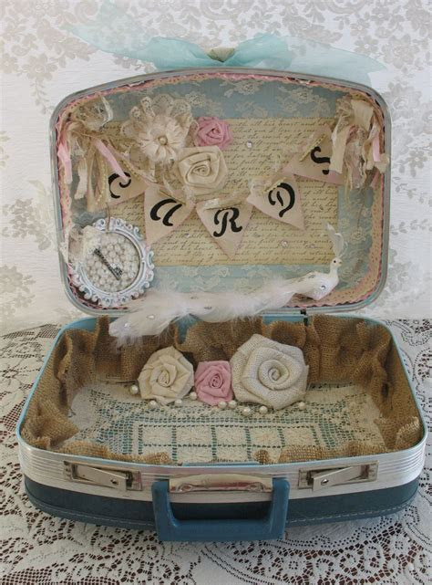 Vintage Suitcase Wedding Card Box Wedding Card Holder