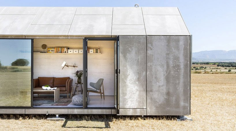 low-cost prefab stone housing by abaton