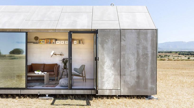 low-cost prefab stone housing by abaton