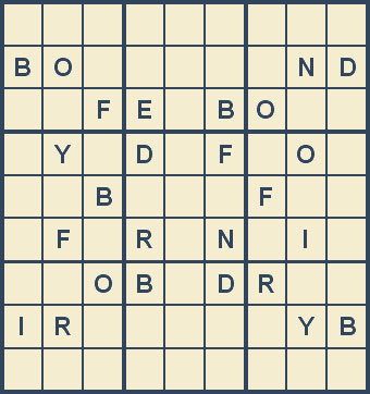 Mystery Godoku Puzzle for June 18, 2007