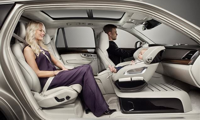 The ultimate family car designed around a BABY SEAT: Volvo concept includes a luxurious
