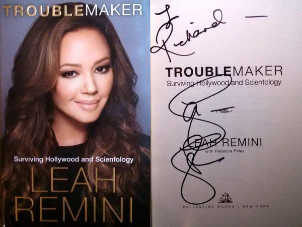 My autographed book by Leah Remini...on December 8, 2015.