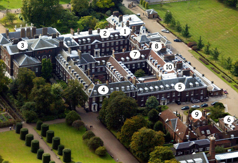 Kensington Palace - who lives where