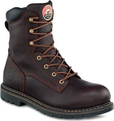 Irish Setter Men's 8 in. EH Soft Toe Boot by Red Wing Dark Brown Worn Saddle Size 8 D