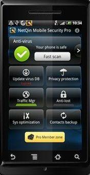 Aplikasi antivirus netqin untuk android