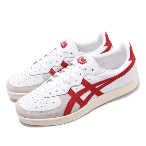 asics onitsuka tiger gsm white classic red men casual shoes sneaker   ebay