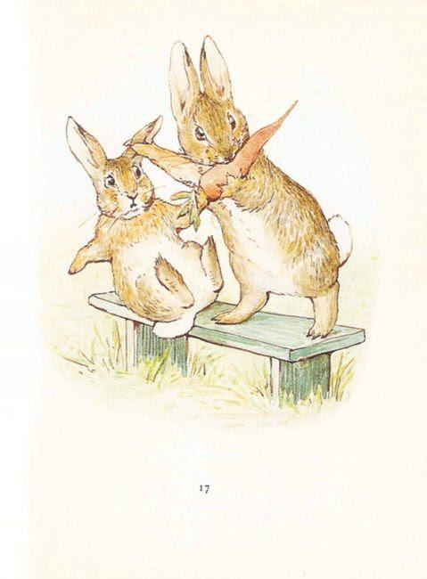 Vintage printing- Beatrix Potter bunnies (lots more pictures) I ❤ Beatrix potter !