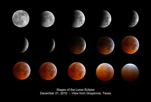 Stages of Lunar Eclipse  12-21-10