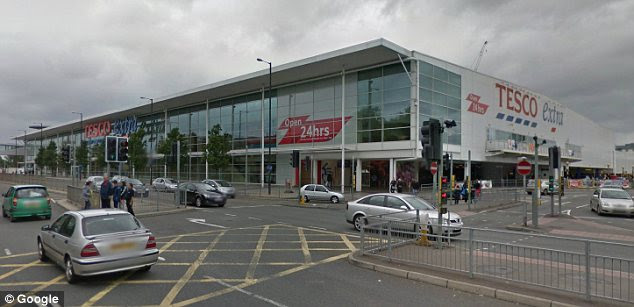 Complaint: Sylvia Tyler noticed the off-putting scene at a superstore in Slough, pictured