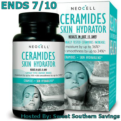 NeoCell Ceramides Skin Hydrator Giveaway Ends 7/10