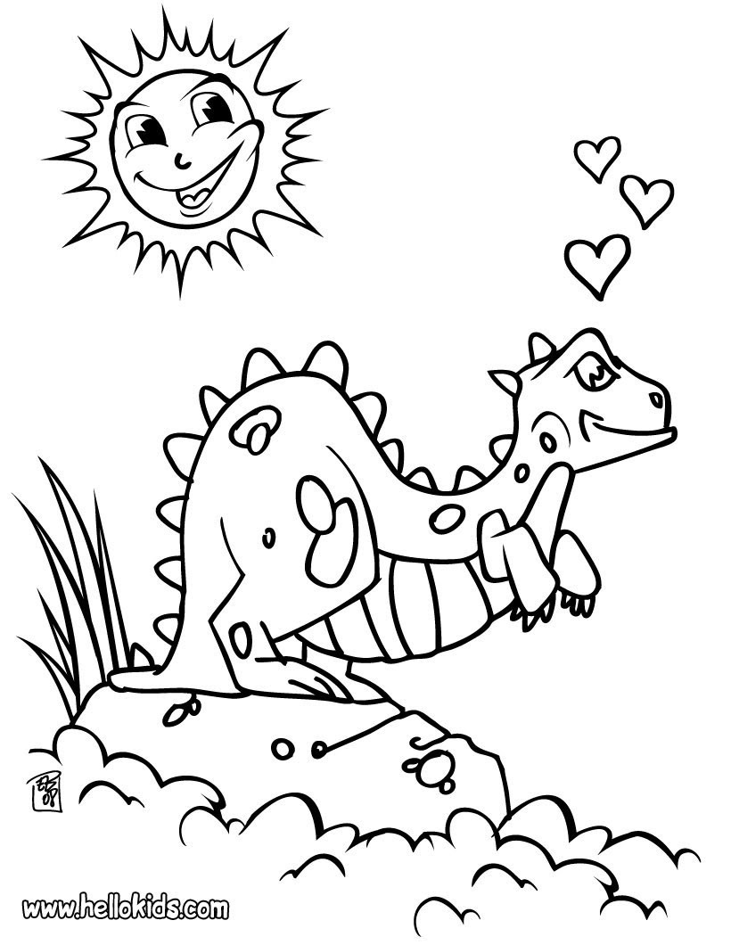 Dinosaurier Zum Ausmalen Ausmalbilder Ausmalbilder Ausdrucken De Hellokids Com