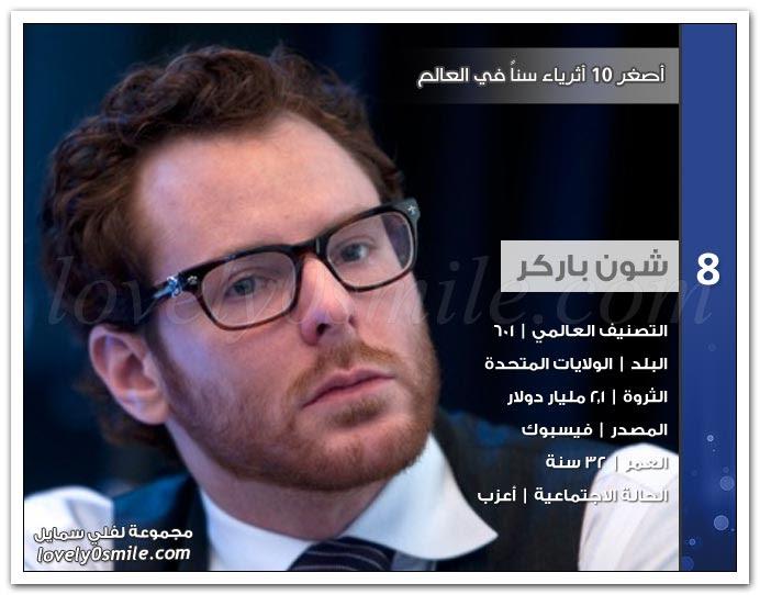 أصغر 10 أثرياء سنا في العالم لعام 2012