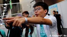Hongkong Wahlen Joshua Wong