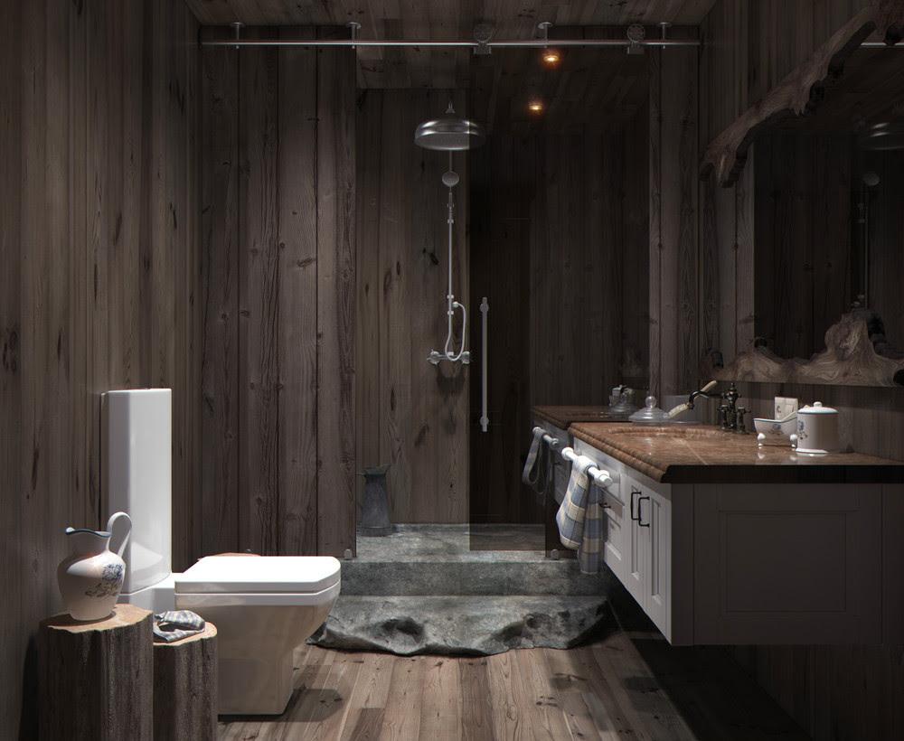 | wood-panel-bathroomInterior Design Ideas.