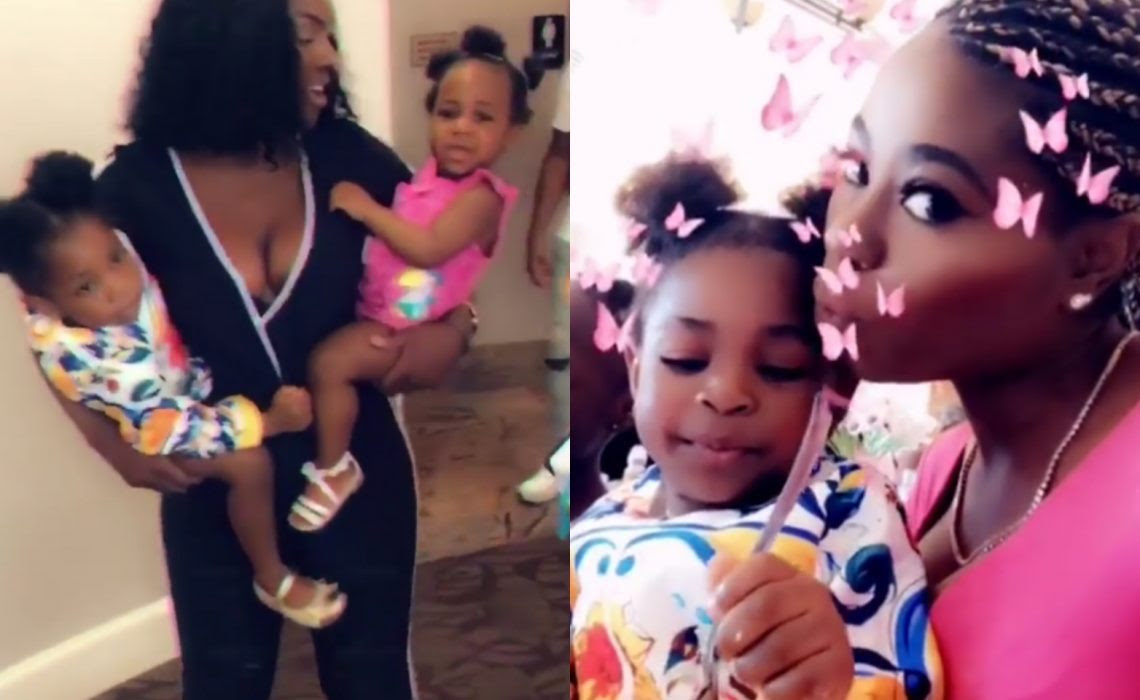 Davido's daughters Imade and Hailey meet in Atlanta