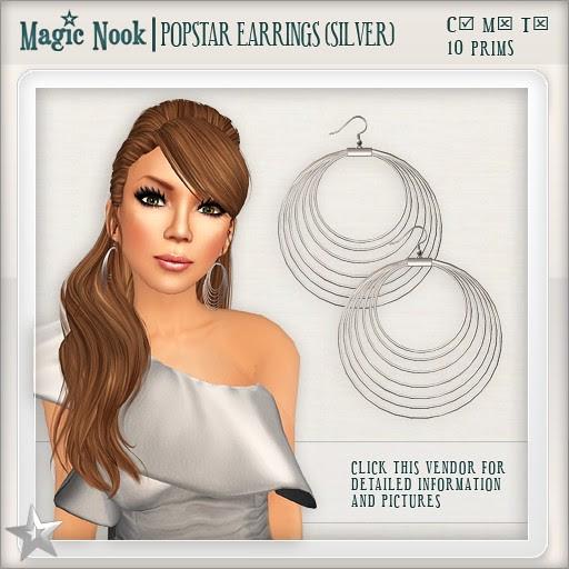 [MAGIC NOOK] Popstar Earrings (Silver)