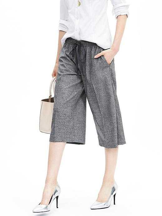 Banana Republic Textured Drawstring Gaucho Pant